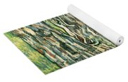 Tree Trunks In Grass Yoga Mat