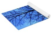 Trees So Tall In Winter Yoga Mat
