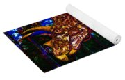 Triceratops Painting Yoga Mat