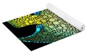 Tropical Fish Art 8 - Abstract Mosaic By Sharon Cummings Yoga Mat