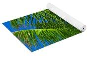 Tropical Palm Portrait Yoga Mat