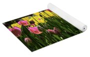 Tulip Time Pink Yellow Black Beauty Yoga Mat