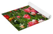 Tulips Garden Art Prints Colorful Spring Floral Yoga Mat