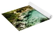 Turquoise River Waterfall And Pond Yoga Mat
