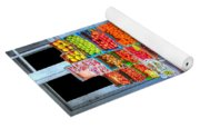 Vegetable And Fruit Stand Yoga Mat