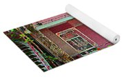 Verdun Flower Boxes Pink House Fenced Front Garden Red Flowers Staircase Scenes Carole Spandau Yoga Mat