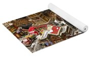 Village Christmas Scene Yoga Mat