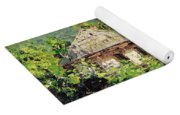 Village Scene In The Mountains Yoga Mat
