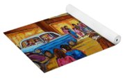 Vintage Montreal-st.catherine And Union-couples And Streetcars Yoga Mat
