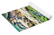 Vintaged Mount Hood Postcard Yoga Mat