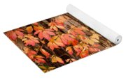 Vitaceae Family Ivy Wall Abstract Yoga Mat