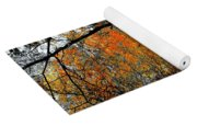 Walk In Golden Fall Yoga Mat