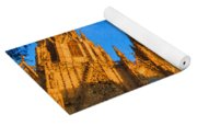 Warm Glow Cathedral - Impressions Of Barcelona Yoga Mat