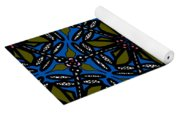 Water Plant And Dragonfly Yoga Mat