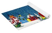 White Christmas Yoga Mat