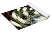 White Roses And Babys Breath Polar Coordinates Effect Yoga Mat