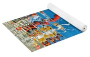 Wibbly Wobbly Flagpole Reflections Yoga Mat