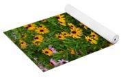 Wildflower Gold Yoga Mat