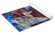 Winter At Fisher Towers Yoga Mat