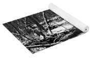 Winter At Pedelo Black And White Yoga Mat