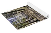 Winter Fall On The Trail Yoga Mat