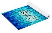 Winter Lights - Blue Mosaic Art By Sharon Cummings Yoga Mat