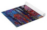 Winter Nightfall, Snow Scene  Yoga Mat
