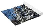 Winter Scenic Landscape Yoga Mat