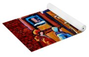 Winter Street In Saint Henri Yoga Mat