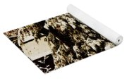 Wintry Red Barn Yoga Mat