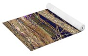 Wisteria And Old Fence Yoga Mat