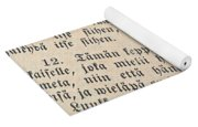Words Of The Bible Yoga Mat