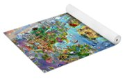 World Map Of World Wonders Yoga Mat