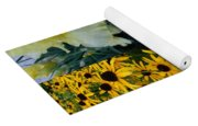 Yellow And White Flower Collage Yoga Mat