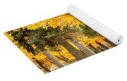 Yellow Autumn Wonderland Yoga Mat