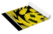 Yellow Chrysanthemums Polar Coordinates Effect Yoga Mat