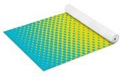 Optical Illusion - Yellow On Aqua Yoga Mat