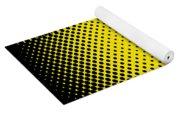 Optical Illusion - Yellow On Black Yoga Mat