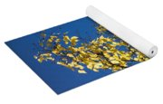 Yellow Leaves In Fall And Deep Blue Sky Yoga Mat