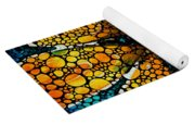 Yellow Sunflower - Stone Rock'd Art By Sharon Cummings Yoga Mat