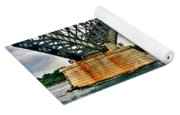 008 Stormy Skies Peace Bridge Series Yoga Mat