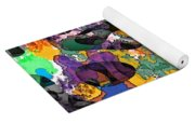 Dont Fall On The Road 3d Abstract I Yoga Mat