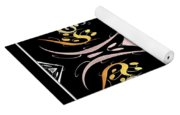 Metallic Flourishes Warp 2 Yoga Mat