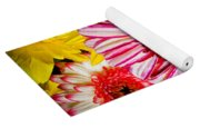 Pink And Yellow Mums Yoga Mat