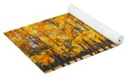 Trees In Autumn Yoga Mat