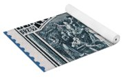 old French postage stamp Yoga Mat