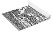 Missionary And Native Americans Yoga Mat