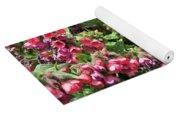 Pulmonaria Named Raspberry Splash Yoga Mat
