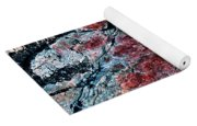 Painted Rocks At Hossa With Stone Age Paintings Yoga Mat
