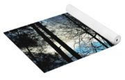 A Blue Winter's Eve Yoga Mat